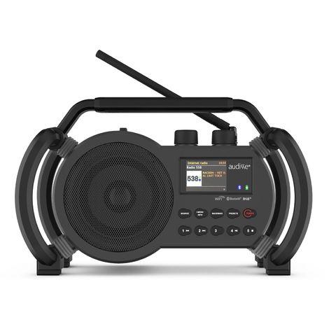 Audisse (par PerfectPro) - Radio de chantier NETBOX - WiFi Internet - FM RDS - DAB+ - Batterie et secteur (batteries incluses)