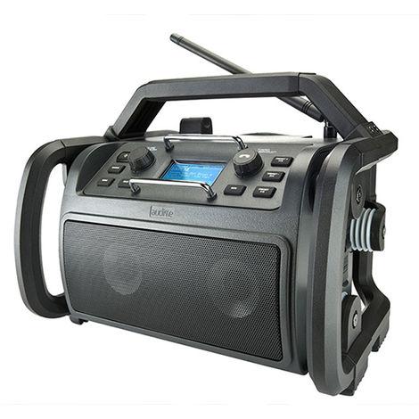 AUDISSE (par Perfectpro) SHOKUNIN - Radio de chantier - WiFi Internet - FM RDS - DAB+ - Fonctionne sur secteur et sur batterie au lithium