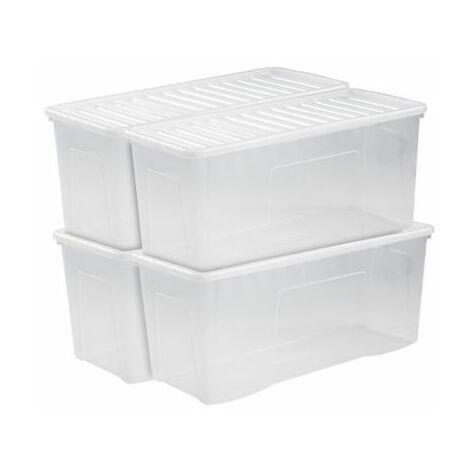 25 St/ück N?hmaschinenspulen inklusive Aufbewahrungsbox transparent