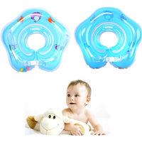 Aufblasbarer Hals Schwimmring Kinder Baby Säuglings Schwimmhilfe Schwimmkragen Blau