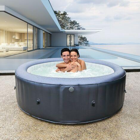 Aufblasbarer Whirlpool rund MSPA CARLTON 2021 Outdoor Garten Massage-Düsen Pool