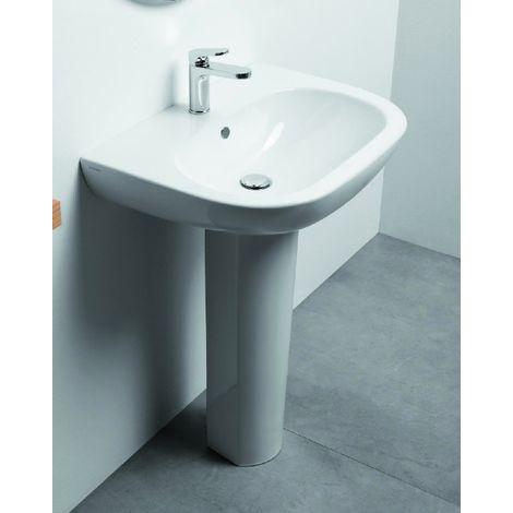 Aufgehängt/auf Säule Waschbecken 64,5 cm Azzurra ceramica reihe Pratica