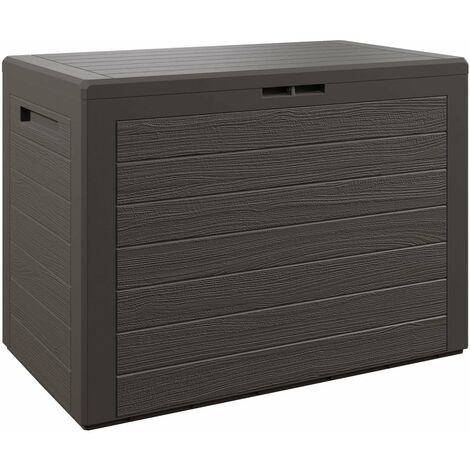 Auflagenbox Kunststoff Truhe Kissenbox Balkonbox Garten Balkon Kissentruhe Lille