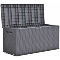 Auflagenbox Rattan Optik anthrazit  16879104