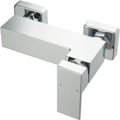 Aufputz Duscharmatur Mischbatterie für Dusche Eckig