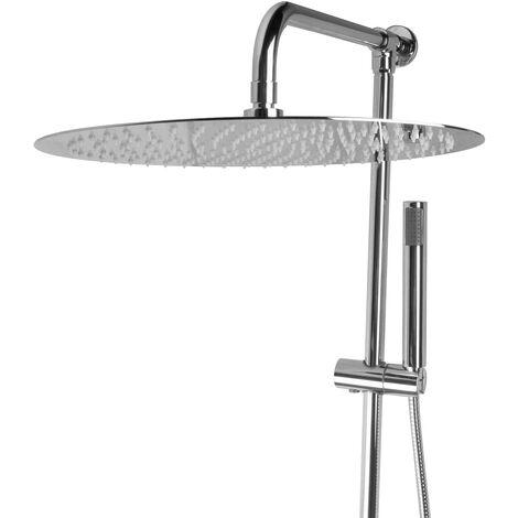 Aufputz Set mit 40 cm Edelstahl Regendusche Brausegarnitur Duschsystem