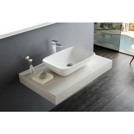 Aufsatzbecken Aufsatz-Waschbecken NT3155 - Badkeramik - 58x38,5cm