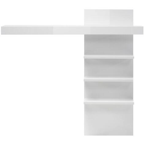 Aufsatzregal für Lowboard COGO-61 in weiß Hochglanz BxHxT ca. 137x127x20cm