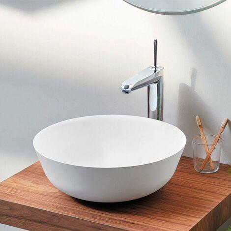 Aufsatzwaschbecken aus kultiviertem Marmor BOL Ø41 x 12cm