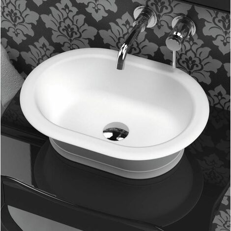 Aufsatzwaschbecken aus Mineralguss Solid Surface CLASSIC