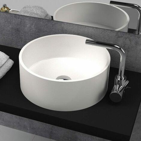 Aufsatzwaschbecken aus Mineralguss Solid Surface LUCENA