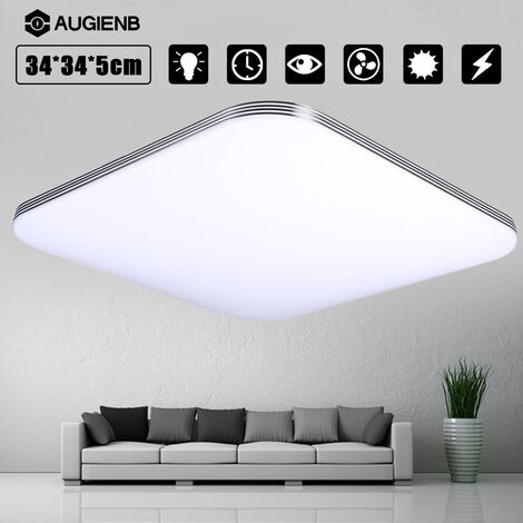 Augienb 16W 1400Lm Lighting Energy Led Ceiling Light And Luminaire Ceiling Recessed Natrual White For Kitchen Bathroom Dining Room