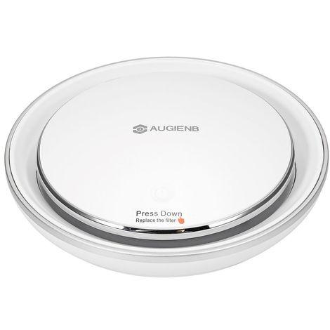 AUGIENB Ioniseur Purificateur D'air De Voiture Filtre HEPA RGB Fumée Légère Odeurs Nettoyant - Blanc