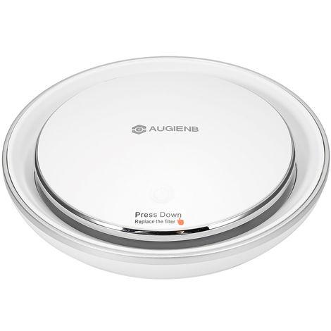 AUGIENB Ionizador Purificador de aire del coche Filtro HEPA RGB Light Smoke Odor Cleaner