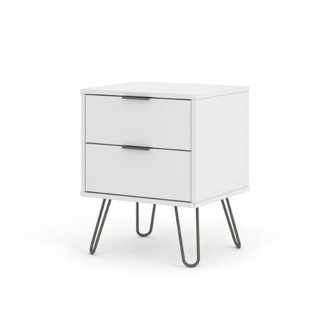 """main image of """"Augustine White 2 Drawer Bedside Cabinet"""""""