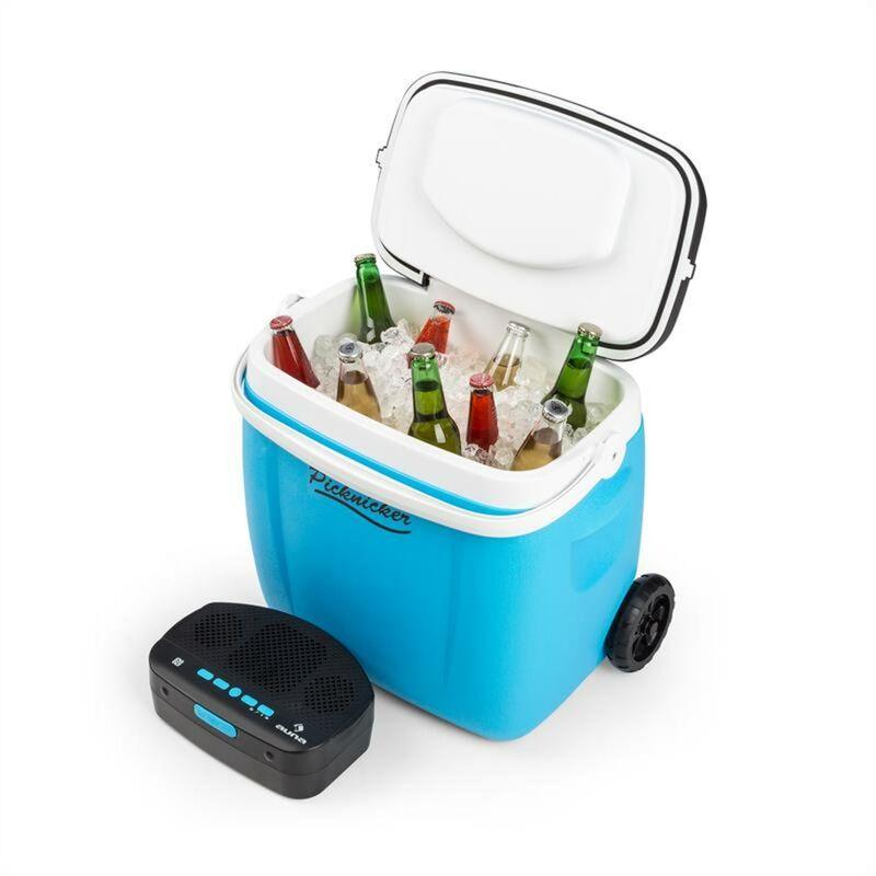 Image of Picknicker Trolley Music Cooler 36l Trolley Coolbox BT-Speaker Blue - Auna