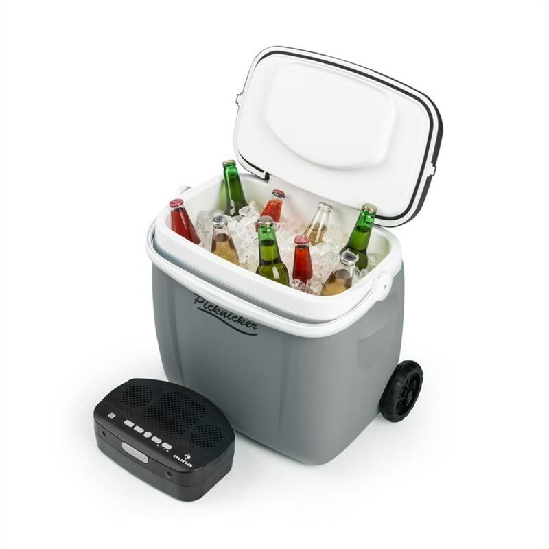 Image of Picknicker Trolley Music Cooler 36l Trolley Coolbox BT-Speaker Grey - Auna