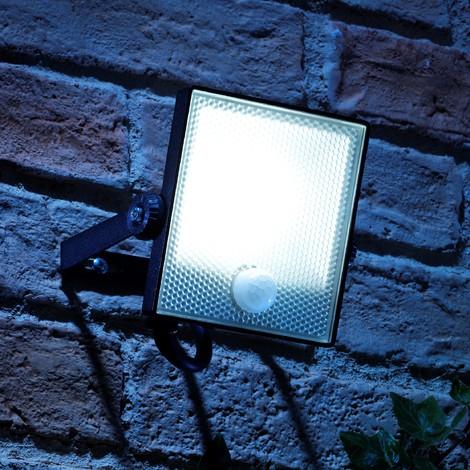 Auraglow 10W LED Motion Activated PIR Sensor Security Floodlight Outdoor Slim Profile Wall Light - 150w EQV