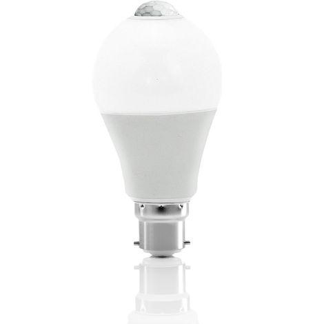 Auraglow 12W Indoor PIR Detector Motion Activated Sensor LED Light Bulb 75W EQV – B22