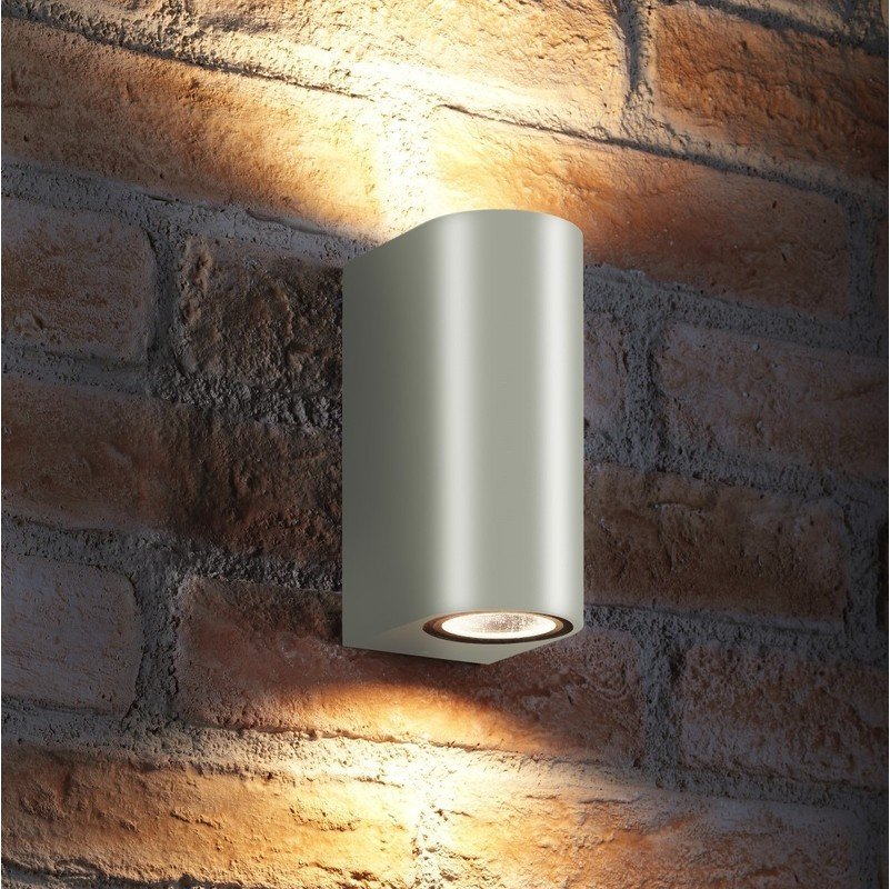 Image of 14w Indoor / Outdoor Double Up & Down Wall Light - LED bulbs Included - Auraglow