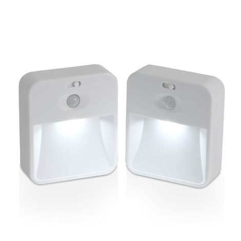 Auraglow 2.4ghz Wireless Networked Indoor PIR Motion Sensor LED Night Light System for Home Safety and Security, Ideal for Hallways and Stairs – Twin Pack