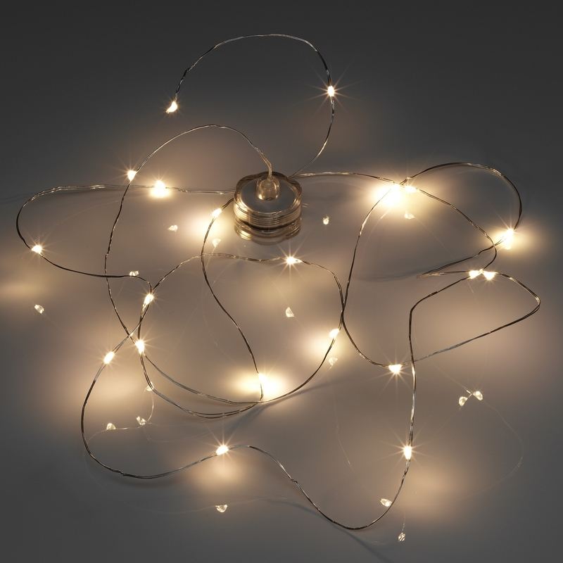 Image of 2m Battery Operated Submersible Waterproof 20 LED String Wire Fairy Lights - Auraglow