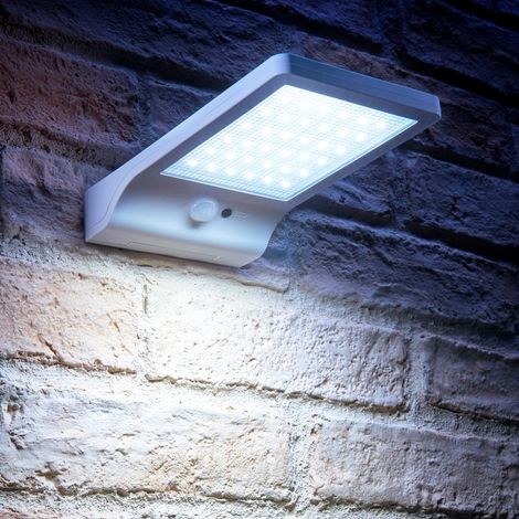Auraglow 36 LED Solar Powered Outdoor Wall Panel Light with Daylight Sensor and PIR Motion Detection