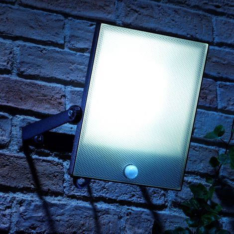 Auraglow 50W LED Motion Activated PIR Sensor Security Floodlight Outdoor Slim Profile Wall Light - 300w EQV
