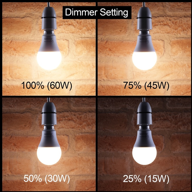 Image of 10w Remote Control Colour Changing LED Light Bulb E27, 75w EQV Warm White Dimmable Version - 3rd Generation - Auraglow
