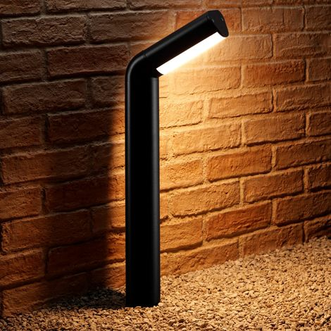 Auraglow Black Outdoor 13w Integrated LED Warm White Path Lamp Post Outside Pillar Light