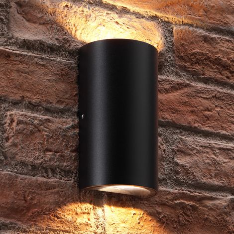 Auraglow Contemporary Outdoor Double Up & Down Integrated LED Warm White Wall Light