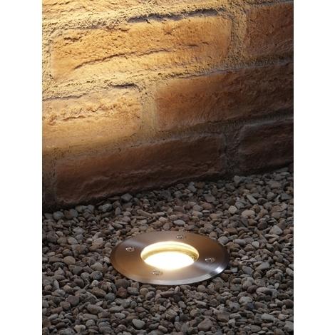 Auraglow Deep Recessed GU10 Holder Garden Ground Path Deck Light IP67 Driveway Outdoor Uplighter - Four Pack