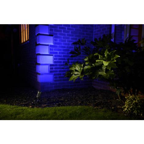 Auraglow Deep Recessed GU10 Holder IP65 Garden Spike Light - RED / GREEN / BLUE