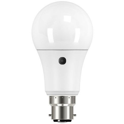 Auraglow Dusk to Dawn Integrated Automatic Daylight Sensor LED Security Bulb Perfect for Outdoor Wall Fittings – Warm White 9W B22 Bayonet