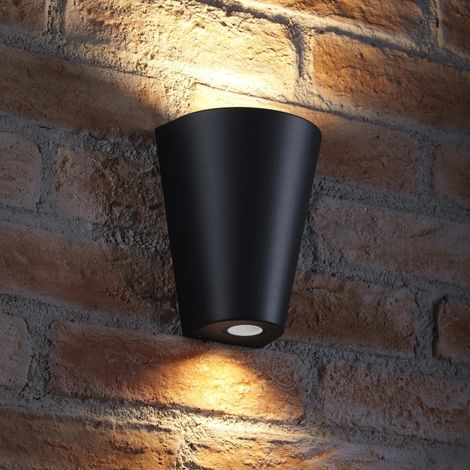 Auraglow Indoor/Outdoor Double Wall Up & Down Light - Black - Fitting Only