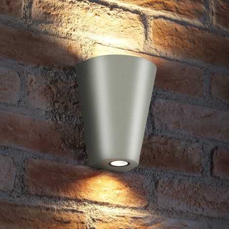 Auraglow Indoor/Outdoor Double Wall Up & Down Light - Silver - Fitting Only