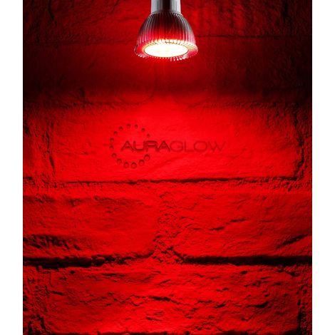 Auraglow LED Coloured GU10 Spotlight Light Bulb - RED