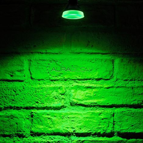 Auraglow LED Coloured Narrow Beam GU10 Spotlight Light Bulb - GREEN