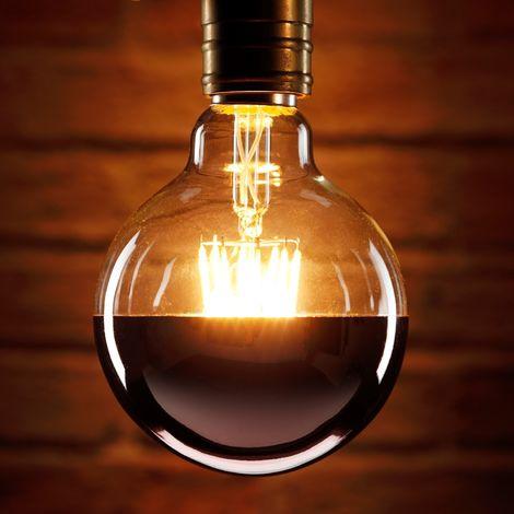 Auraglow Mysa LED Light Bulb - Decorative Vintage Filament Effect with Copper Coating Anti-Dazzle Cap - E27