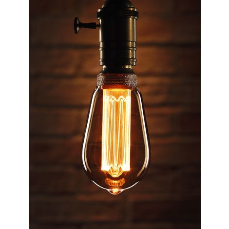 Auraglow Mysa LED Light Bulb – Vintage Retro Rustic Edison Style Decorative Energy Efficient Filament B22 Screw ST64 Classic Shape