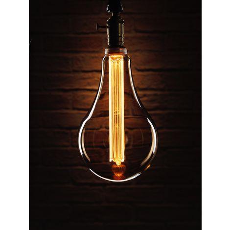 Auraglow Mysa LED Light Bulb – Vintage Retro Rustic Edison Style Decorative Energy Efficient Filament E27 Screw S165 Globe Shape XXL