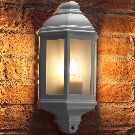 Auraglow Outdoor Wall Lantern Retro Vintage Garden Light - Warm White LED Filament Light Bulb Included