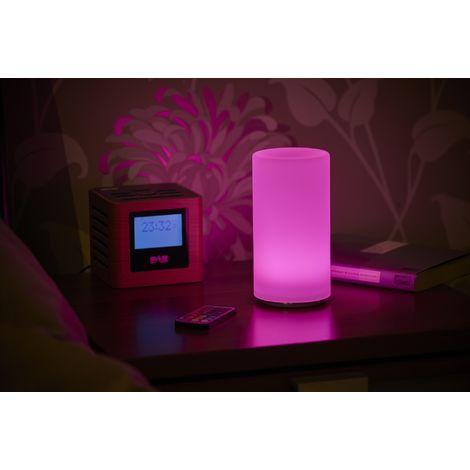 Auraglow Rechargeable Cordless Wireless Colour Changing & White Light LED Table Lamp – PILLAR