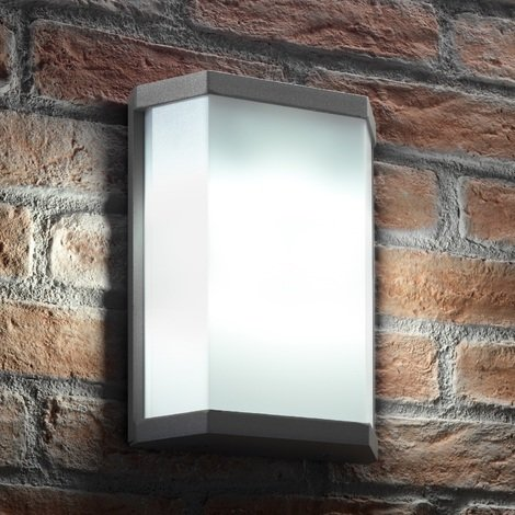 Auraglow Ultra Modern 10w LED Twin Lamp Garden Outdoor LED Wall Light