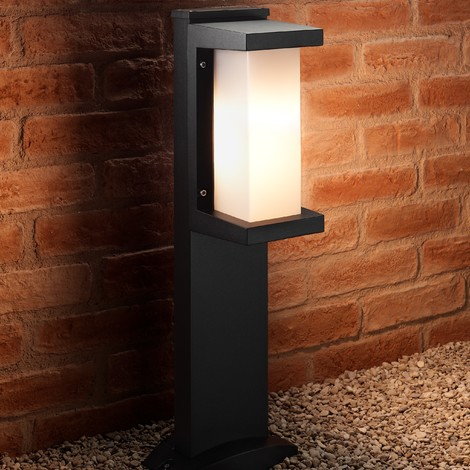 Auraglow Ultra Modern Heavy Duty Weather Resistant Outdoor Garden Path LED Post Light - Cool White - 60cm