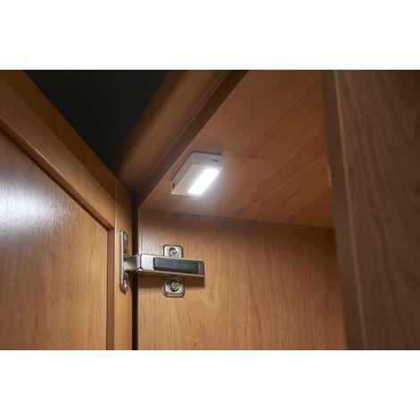 Auraglow Under Cabinet Cupboard Wardrobe Drawer Kitchen LED Sensor Light, USB Rechargeable Battery, Wireless, Twin Pack