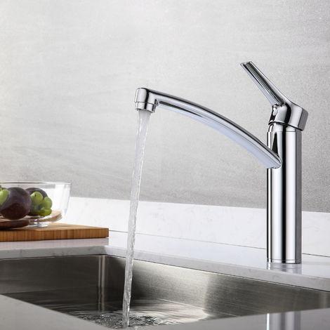 Auralum 360°drehbar Küchenarmatur Chrom Mischbatterie Küche Wasserhahn Spültischarmatur