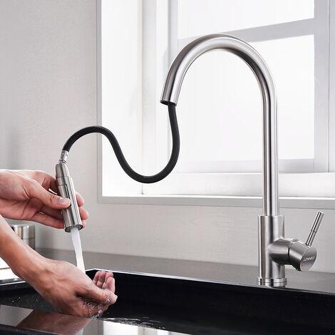 Auralum Ausziehbar Wasserhahn Küche 360° Schwenkbar Küchenarmatur Mischbatterien Spültischarmatur