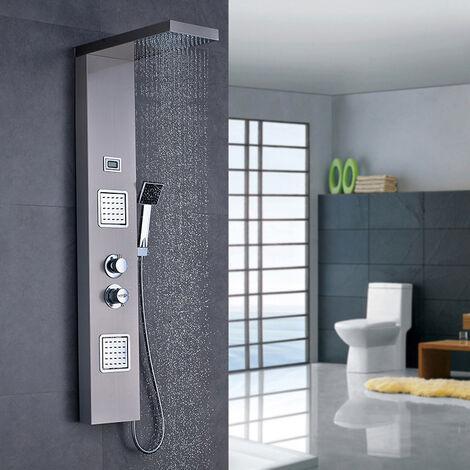 auralum colonne de douche hydromassante panneau de douche. Black Bedroom Furniture Sets. Home Design Ideas
