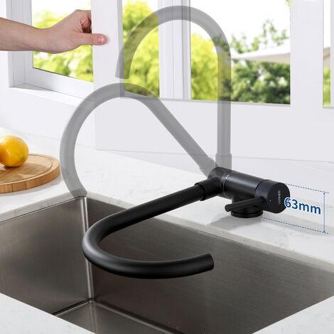 Auralum Conjunto de ducha con Grifo para baño 3 Funciones Cuadrado Columna de Ducha con 9 pulgadas Ducha Lluvia+Ducha de Mano, con boquillas anticalcáreas, Altura Ajustable 850-1200mm